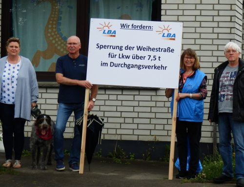 LBA will Gohfelder Bürger entlasten: Die Weihestraße soll für den Durchgangs-Schwerlastverkehr gesperrt werden!